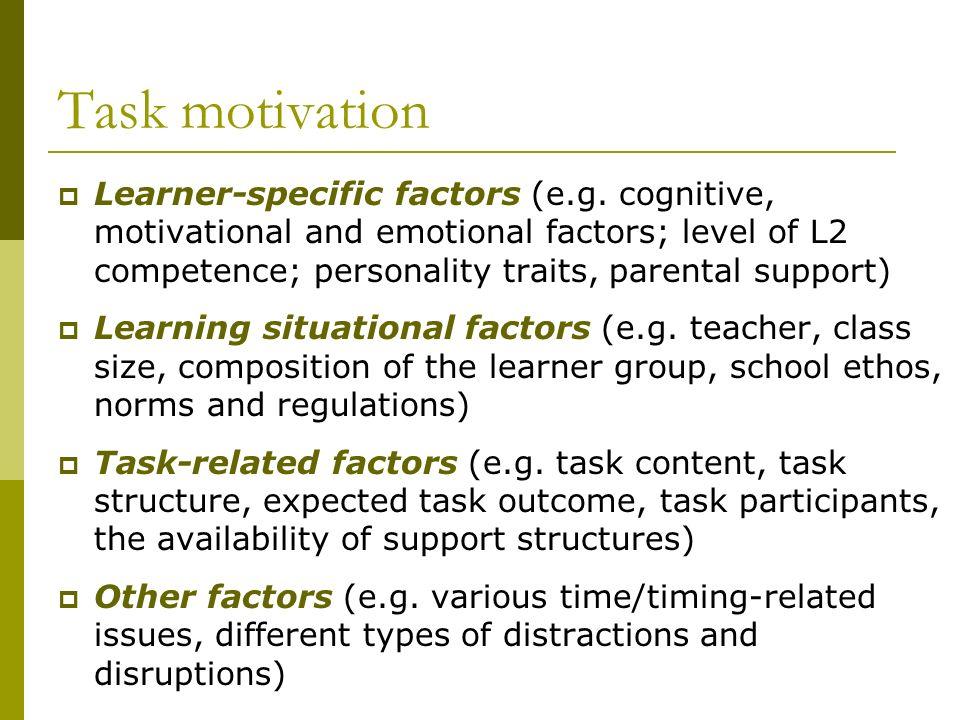 Task motivation