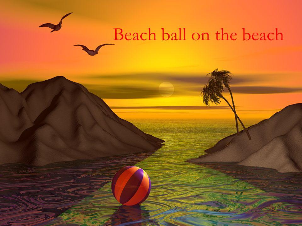Beach ball on the beach