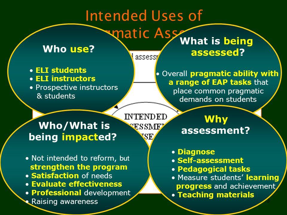 Intended Uses of EAP Pragmatic Assessment
