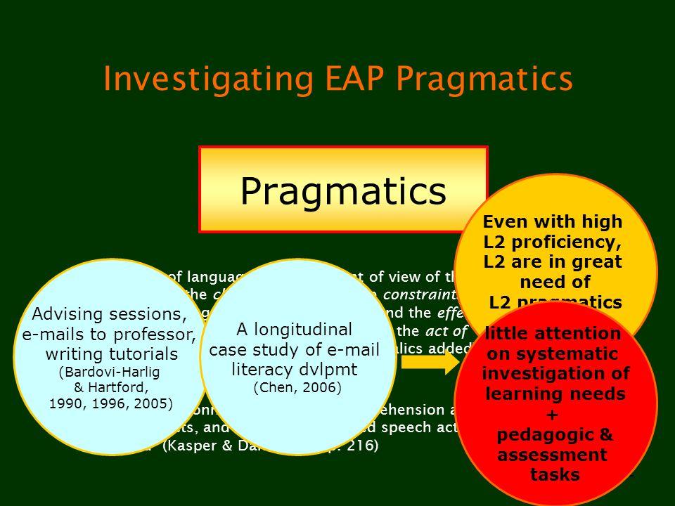 Investigating EAP Pragmatics