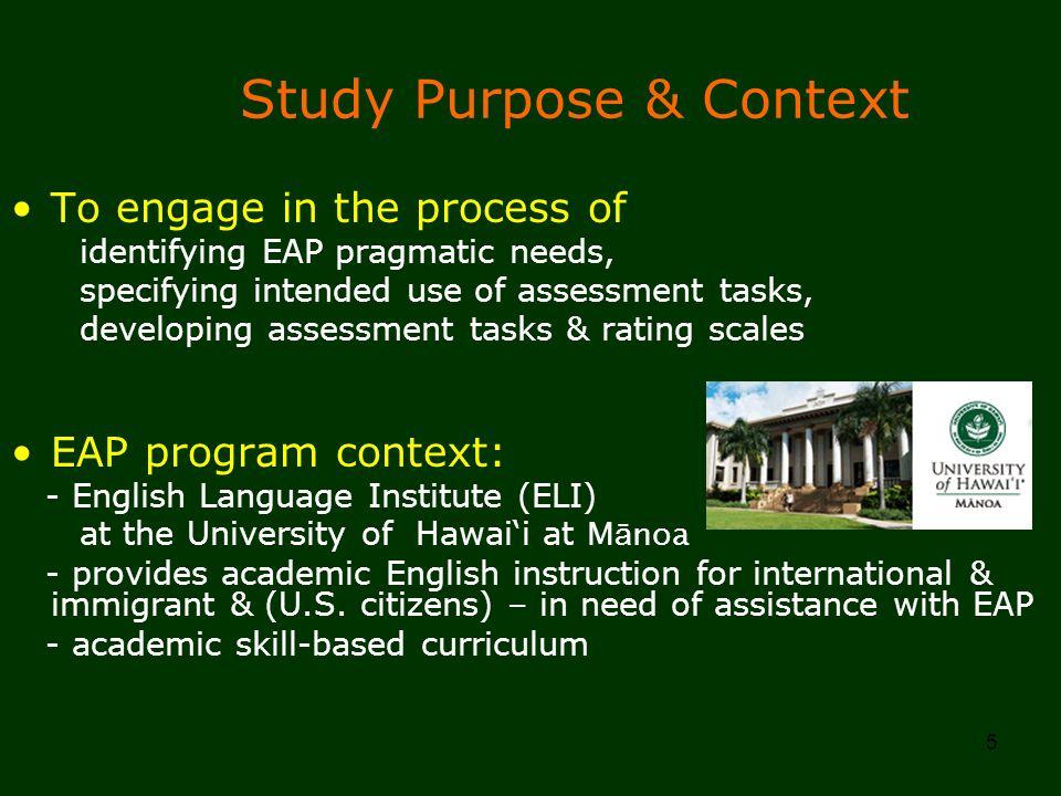 Study Purpose & Context