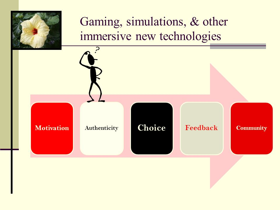 Gaming, simulations, & other immersive new technologies