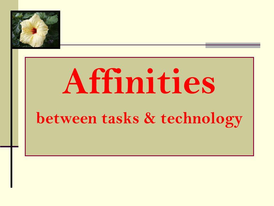 between tasks & technology