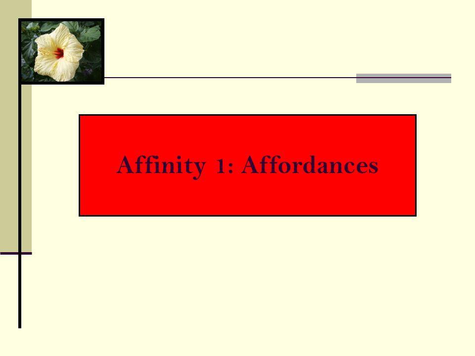 Affinity 1: Affordances