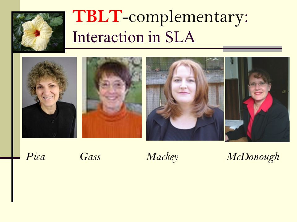TBLT-complementary: Interaction in SLA