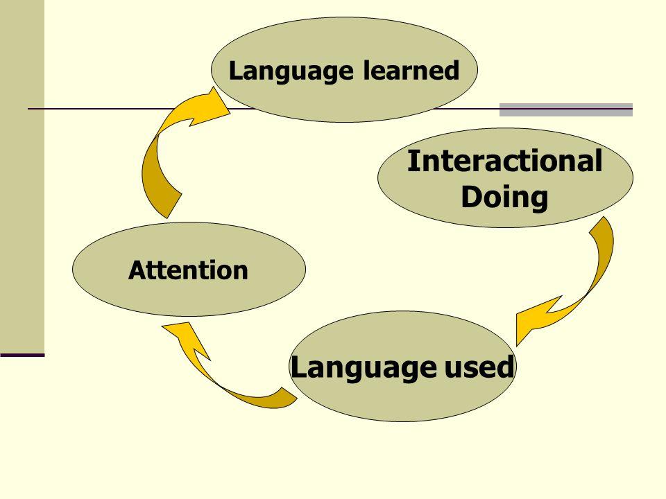 Interactional Doing Language used