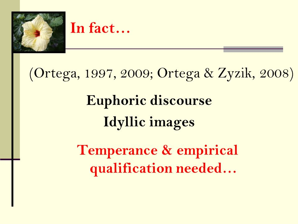 Temperance & empirical qualification needed…