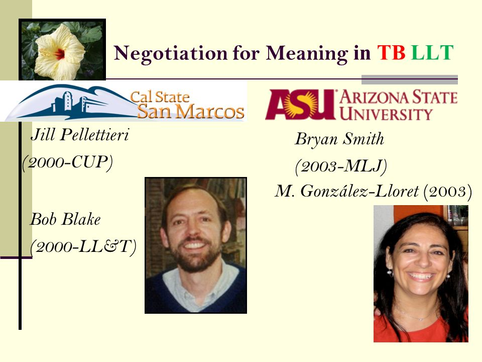 Negotiation for Meaning in TB LLT