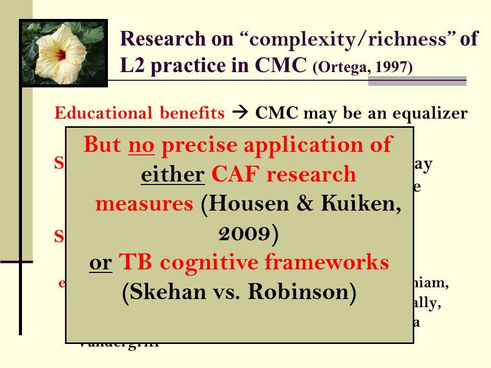 or TB cognitive frameworks