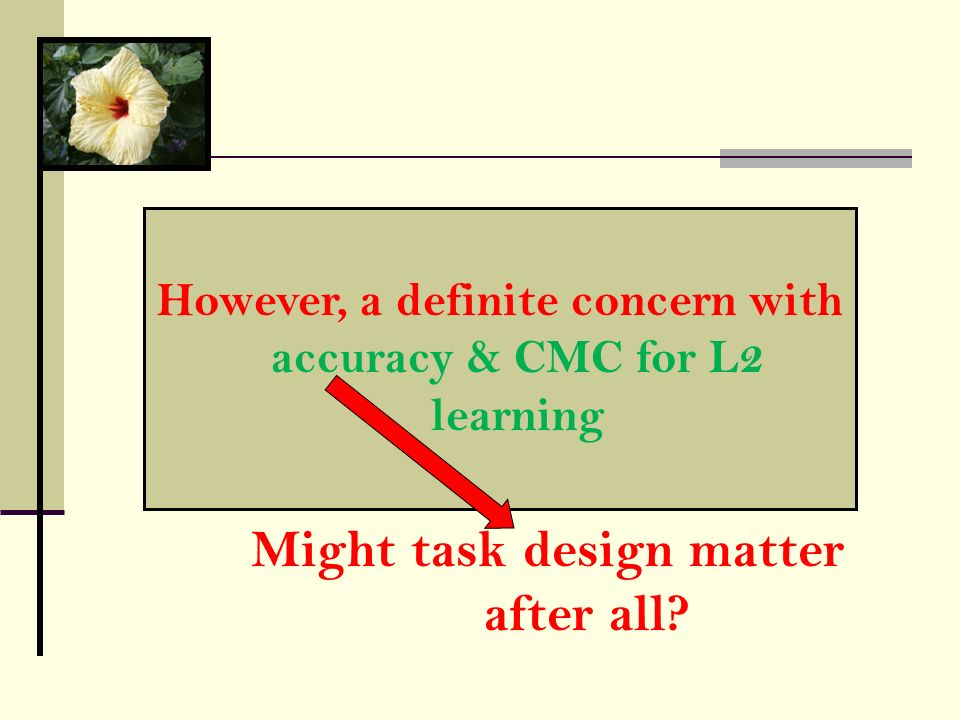 Might task design matter after all