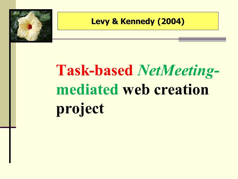 Task-based NetMeeting-mediated web creation project
