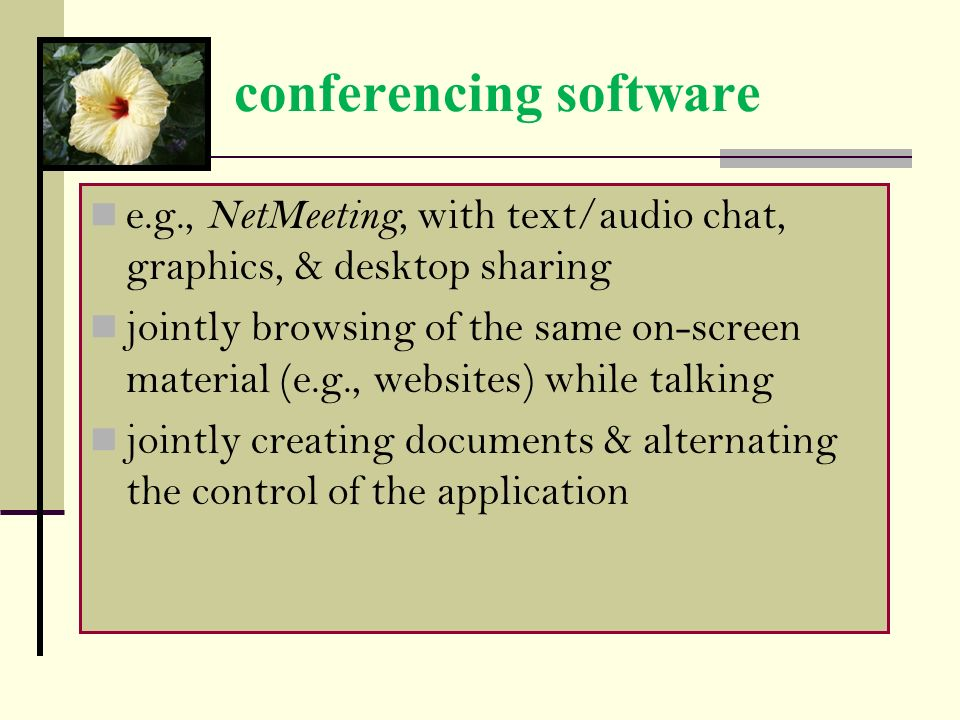 conferencing software