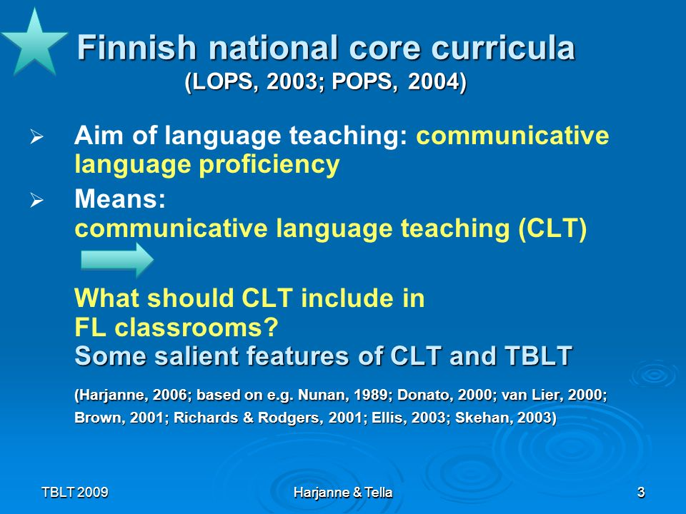 Finnish national core curricula (LOPS, 2003; POPS, 2004)