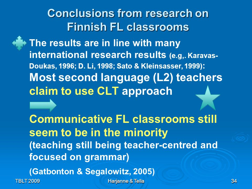 Conclusions from research on Finnish FL classrooms