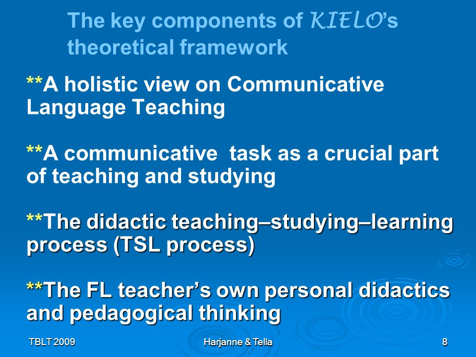 The key components of KIELO's theoretical framework