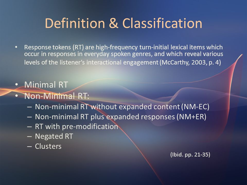Definition & Classification
