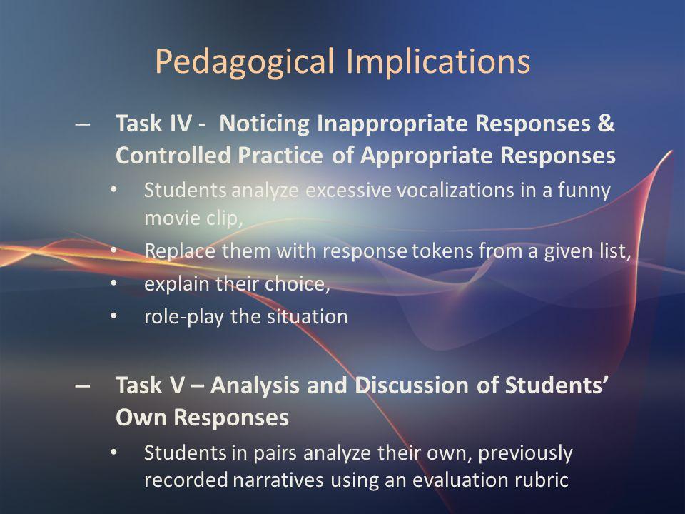 Pedagogical Implications