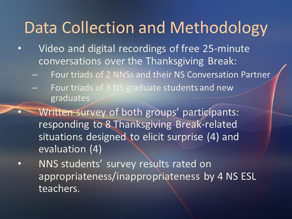 Data Collection and Methodology