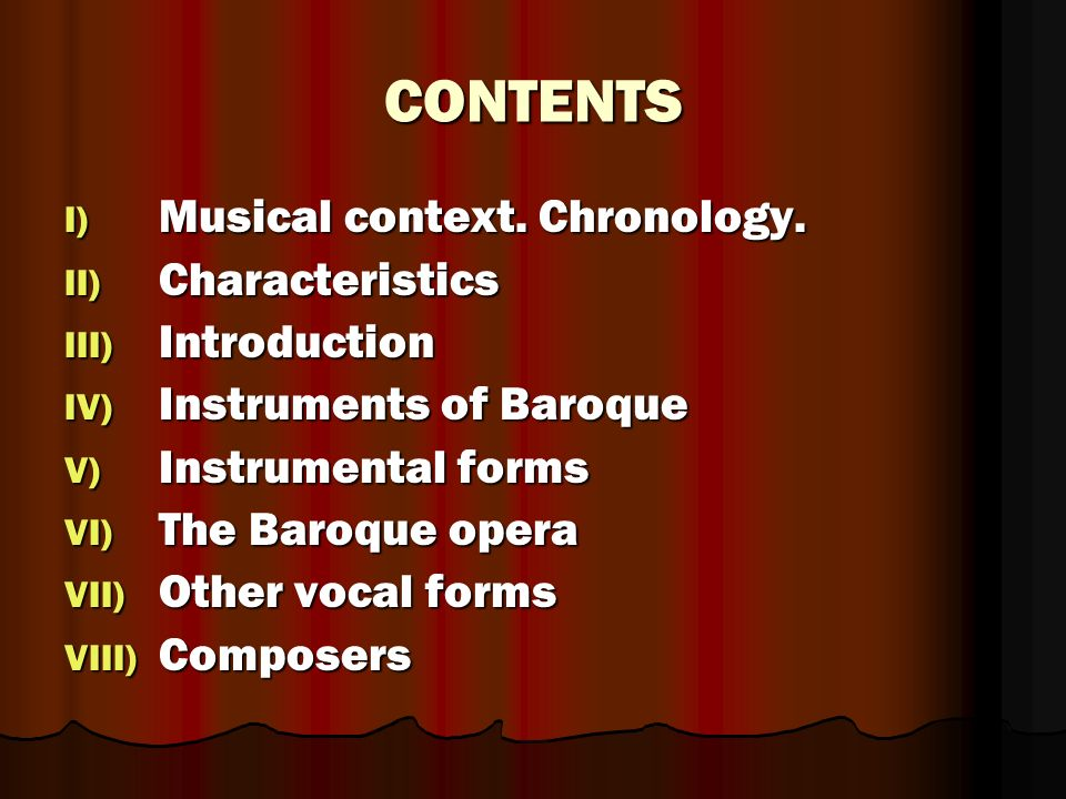 THE MUSIC IN THE BAROQUE PERIOD - ppt video online download