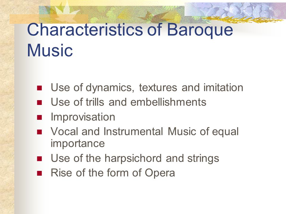 The baroque era ppt download for What are the characteristics of baroque period