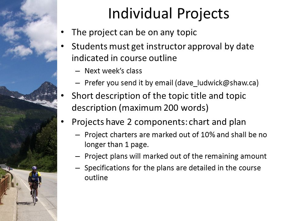 individual project 1 english Foundations that give to individuals have highly specific criteria, and this makes it  hard  1 page future funding: details feasible plans to sustain your project.