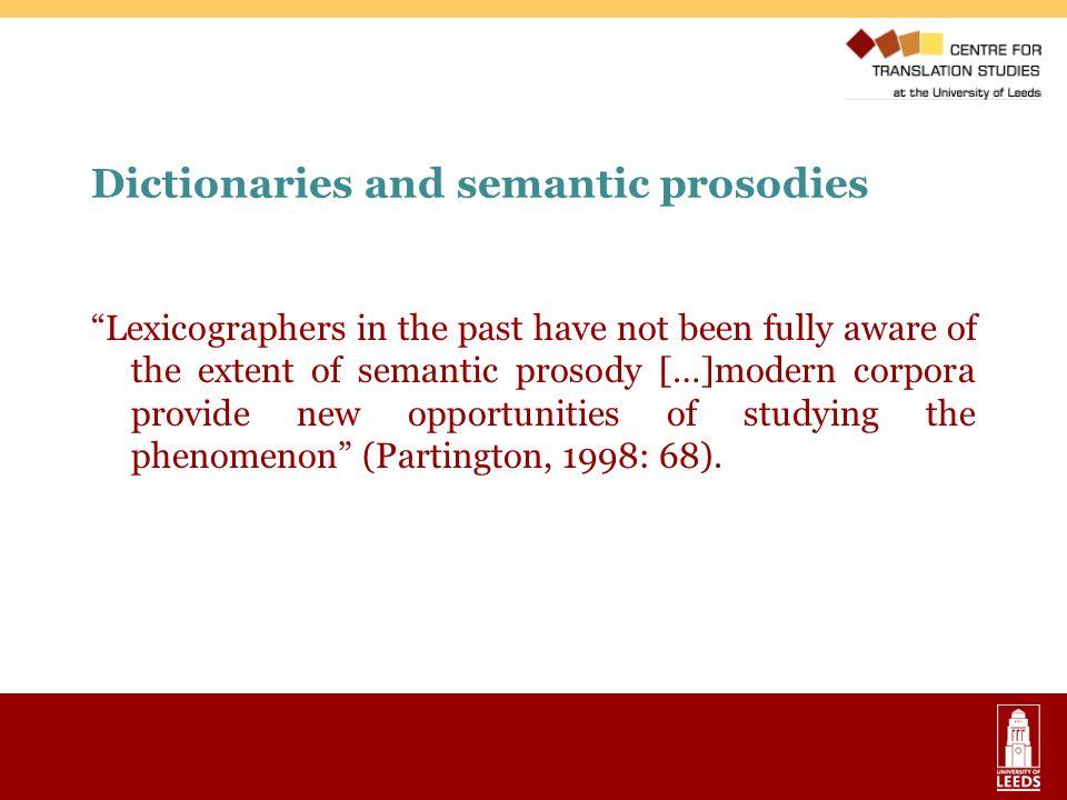 Dictionaries and semantic prosodies