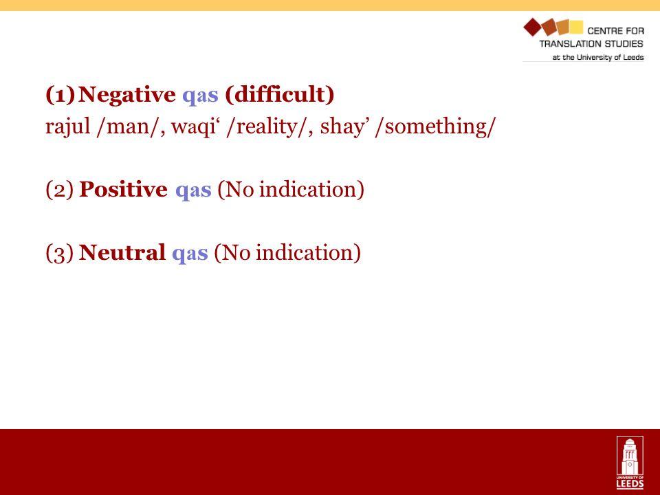 Negative qas (difficult)