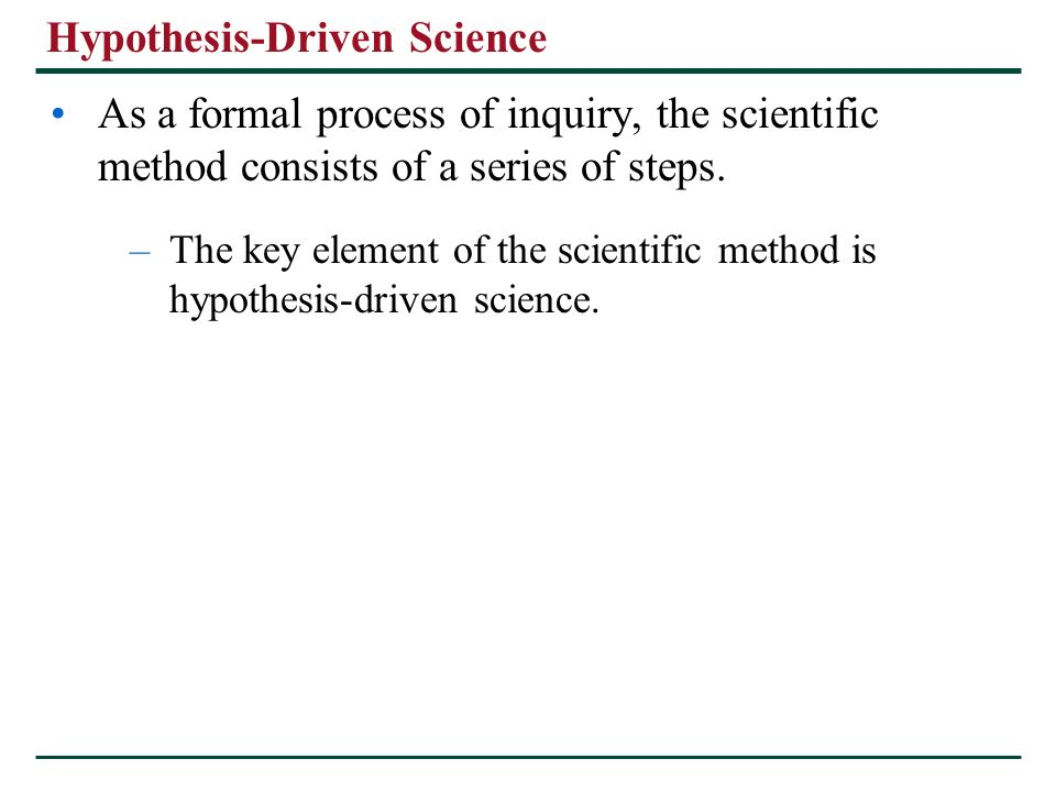 hypothesis based science Which of the following best describes the logic of hypothesis based science a if my hypothesis is correct i will expect a certain test results b if my prediction.