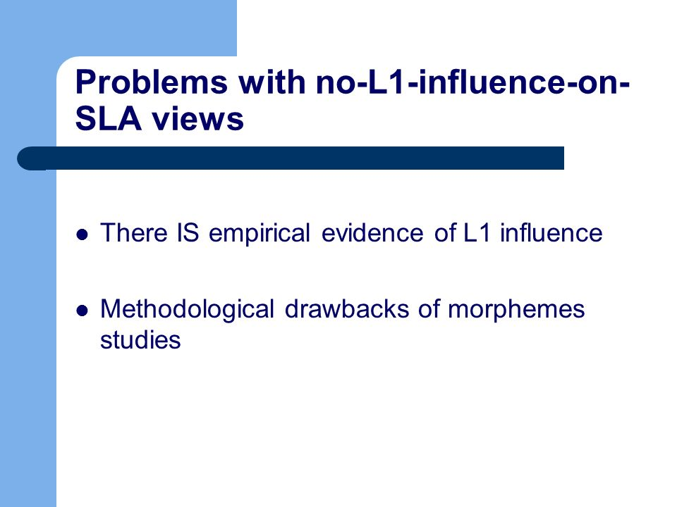 Problems with no-L1-influence-on-SLA views