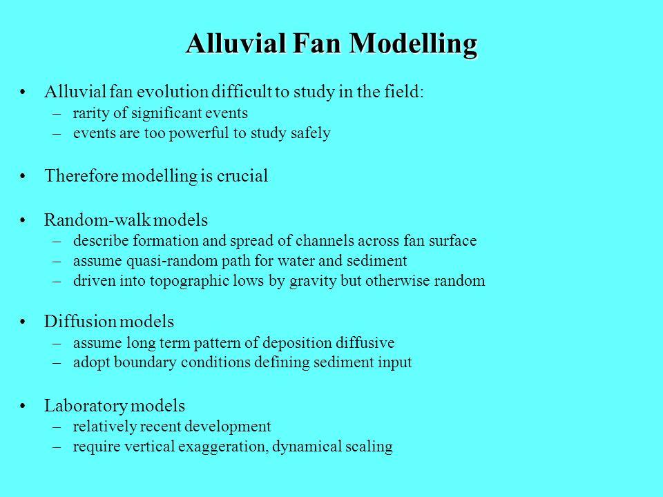 Alluvial Fan Modelling