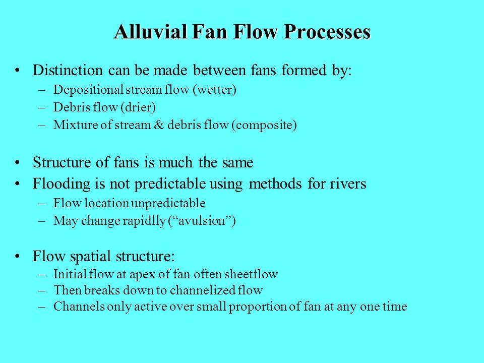 Alluvial Fan Flow Processes
