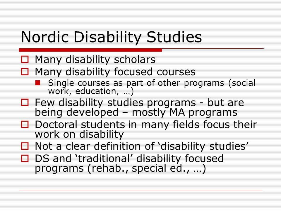 Nordic Disability Studies