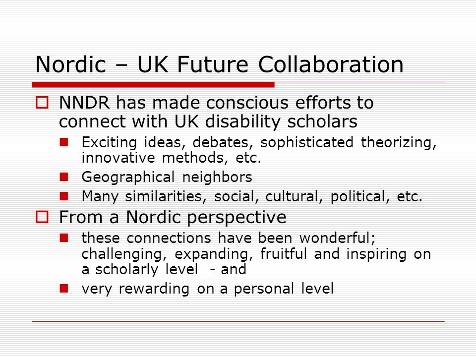Nordic – UK Future Collaboration