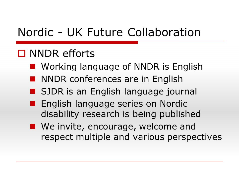 Nordic - UK Future Collaboration