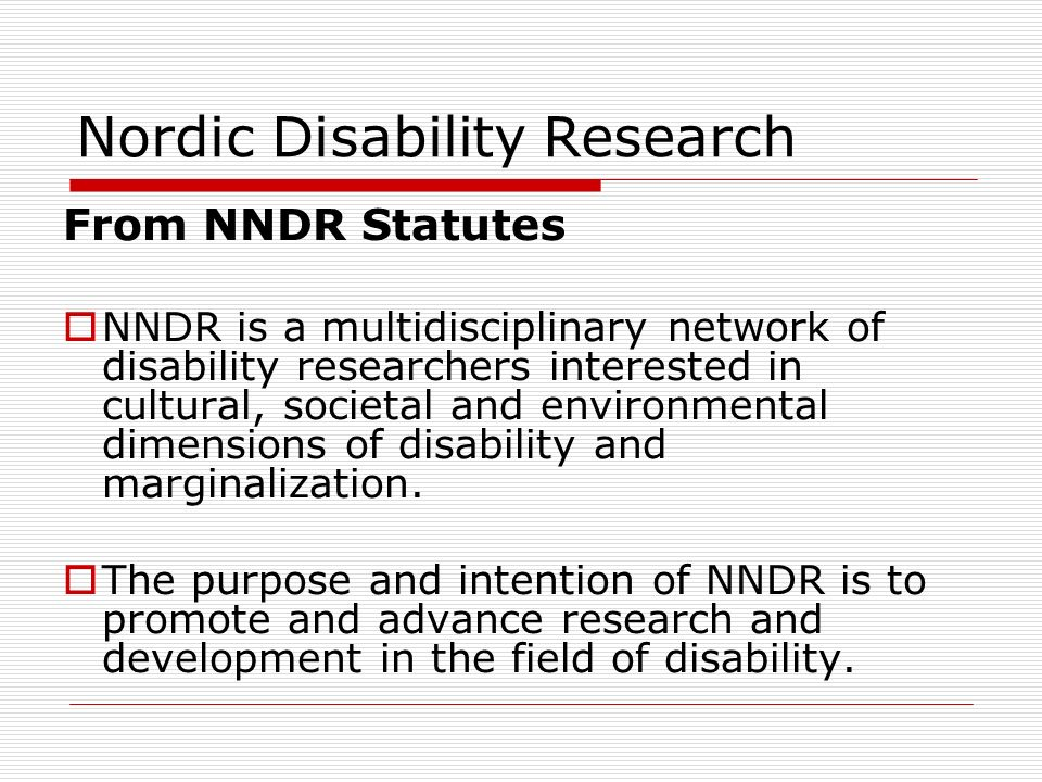 Nordic Disability Research