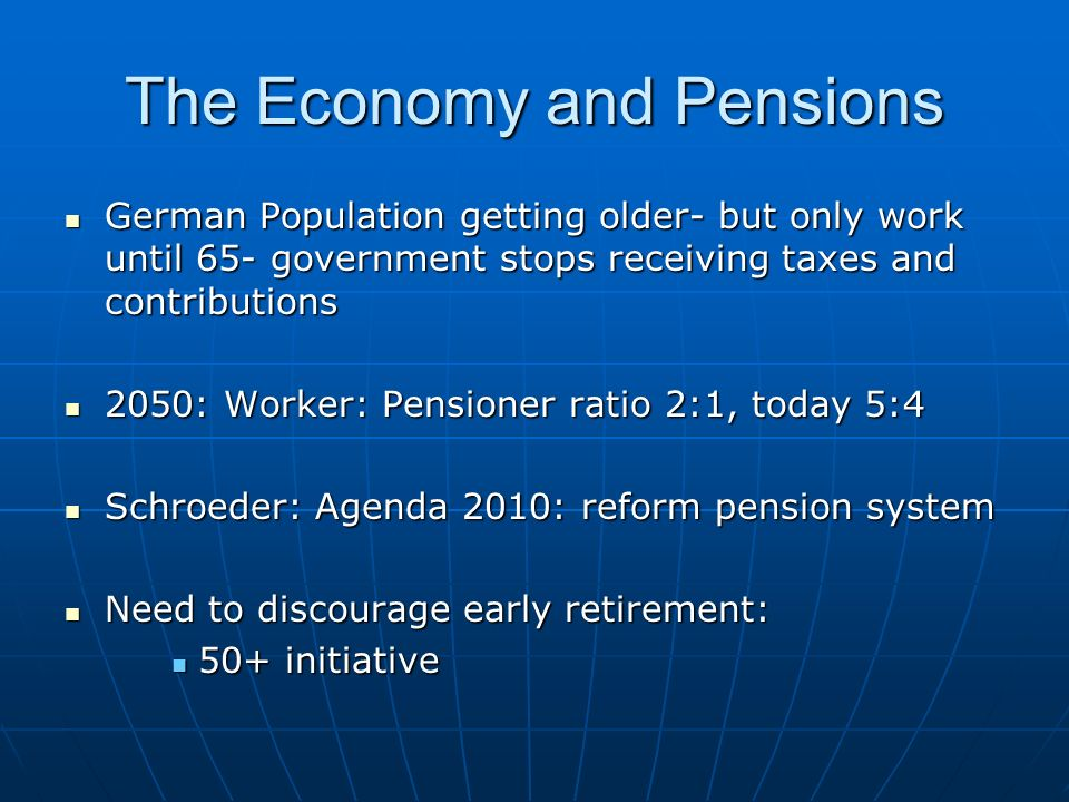 The Economy and Pensions