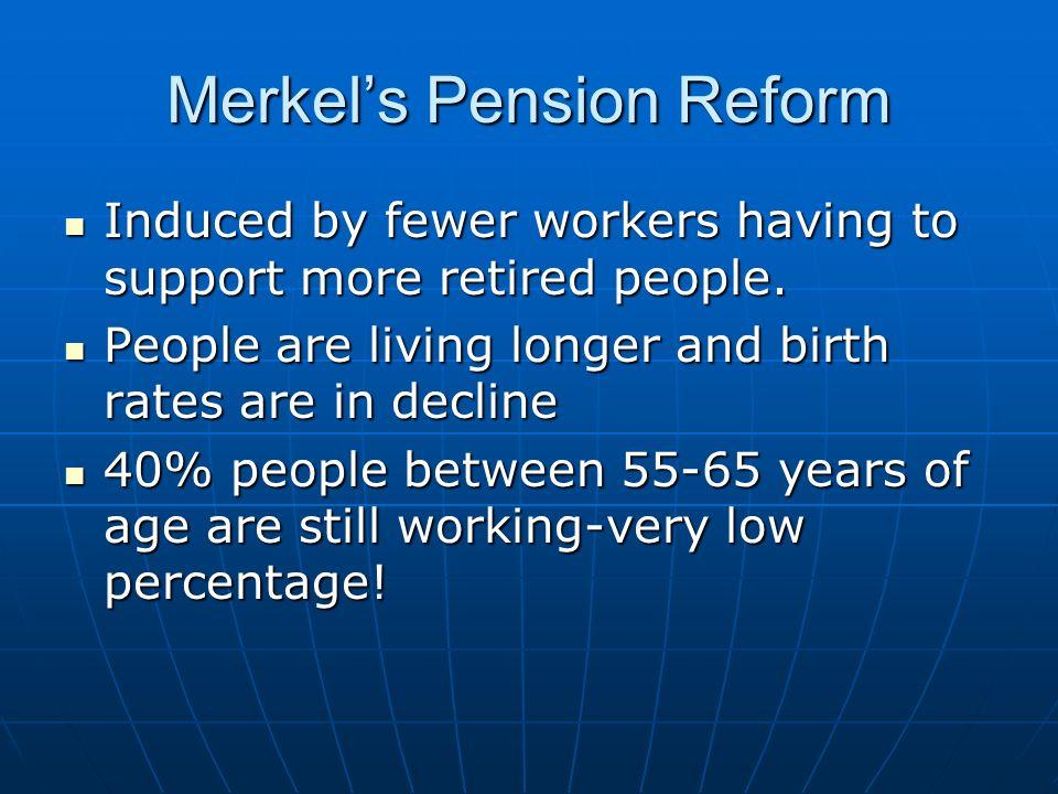 Merkel's Pension Reform