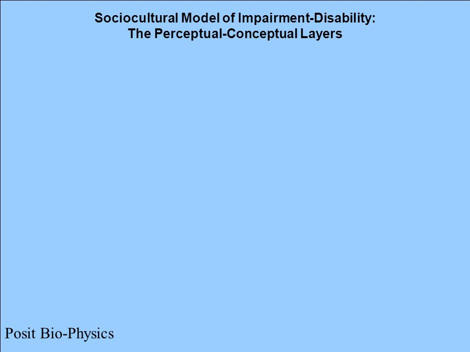 Sociocultural Model of Impairment-Disability: The Perceptual-Conceptual Layers