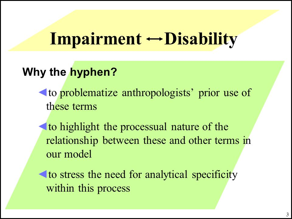 Impairment Disability