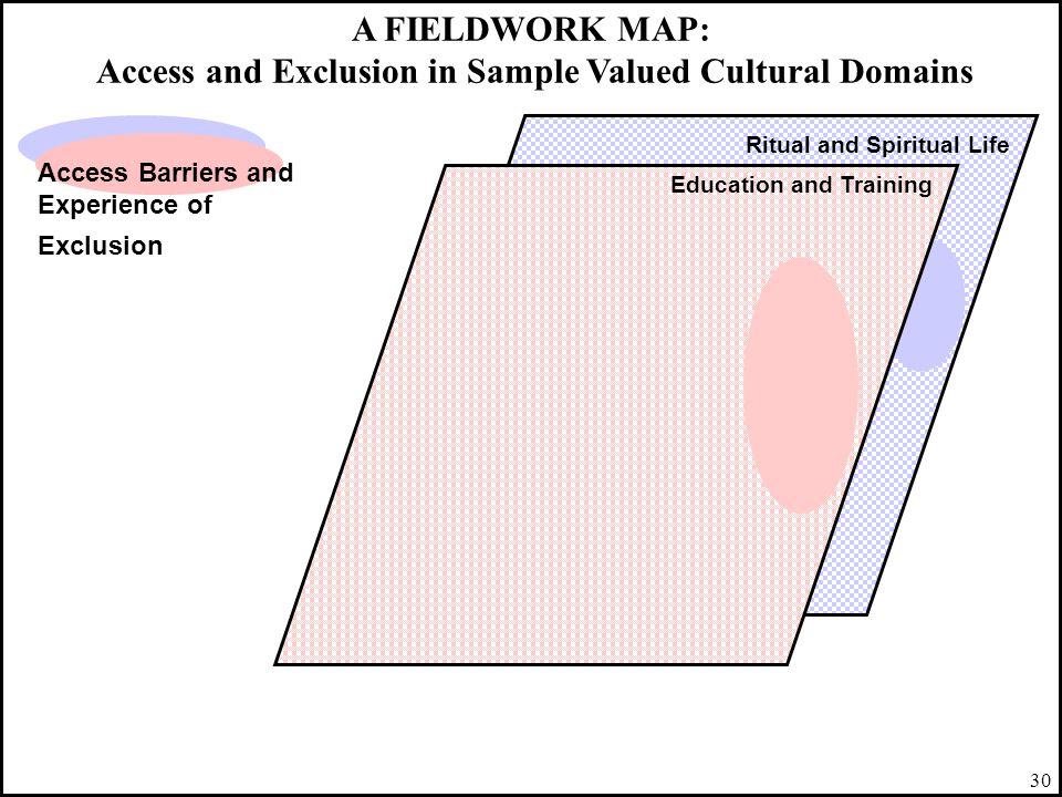 A FIELDWORK MAP: Access and Exclusion in Sample Valued Cultural Domains