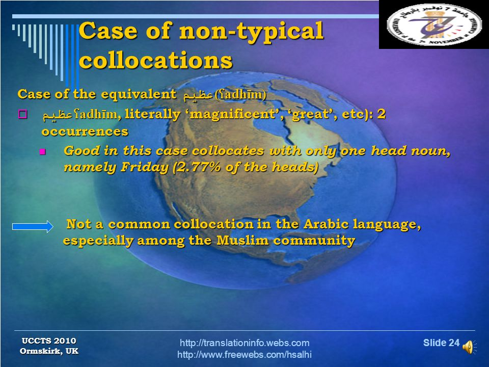 Case of non-typical collocations