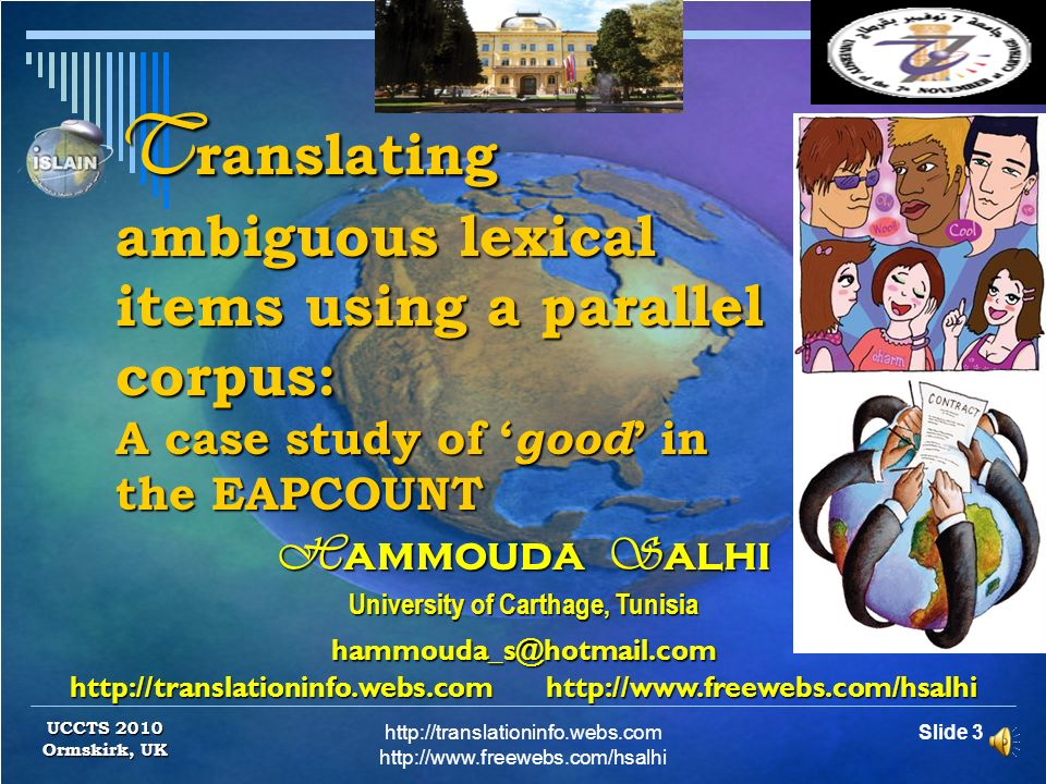 Translating ambiguous lexical items using a parallel corpus: