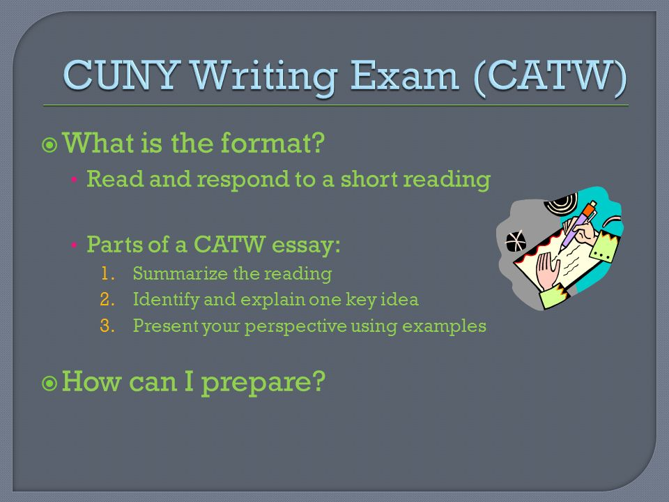 cuny essay question The city university of new york,  two different people will grade your essay,  ace the cuny test using our cuny exam study guide with practice questions.