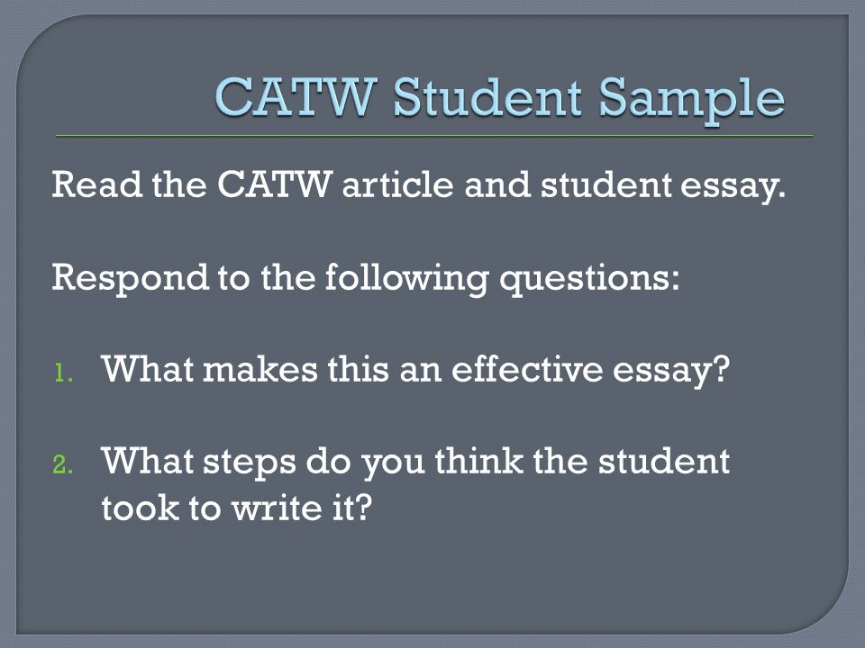 cuny placement tests what does the test measure ppt video  catw student sample the catw article and student essay