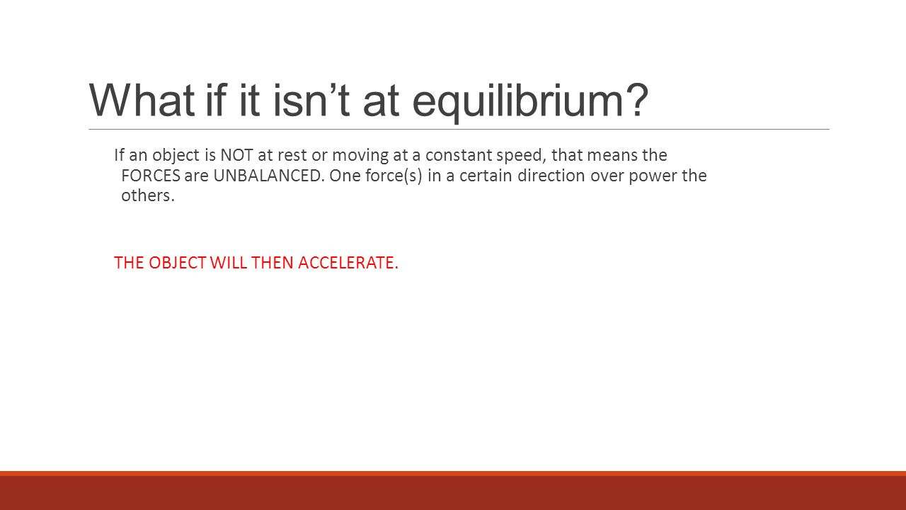 What if it isn't at equilibrium