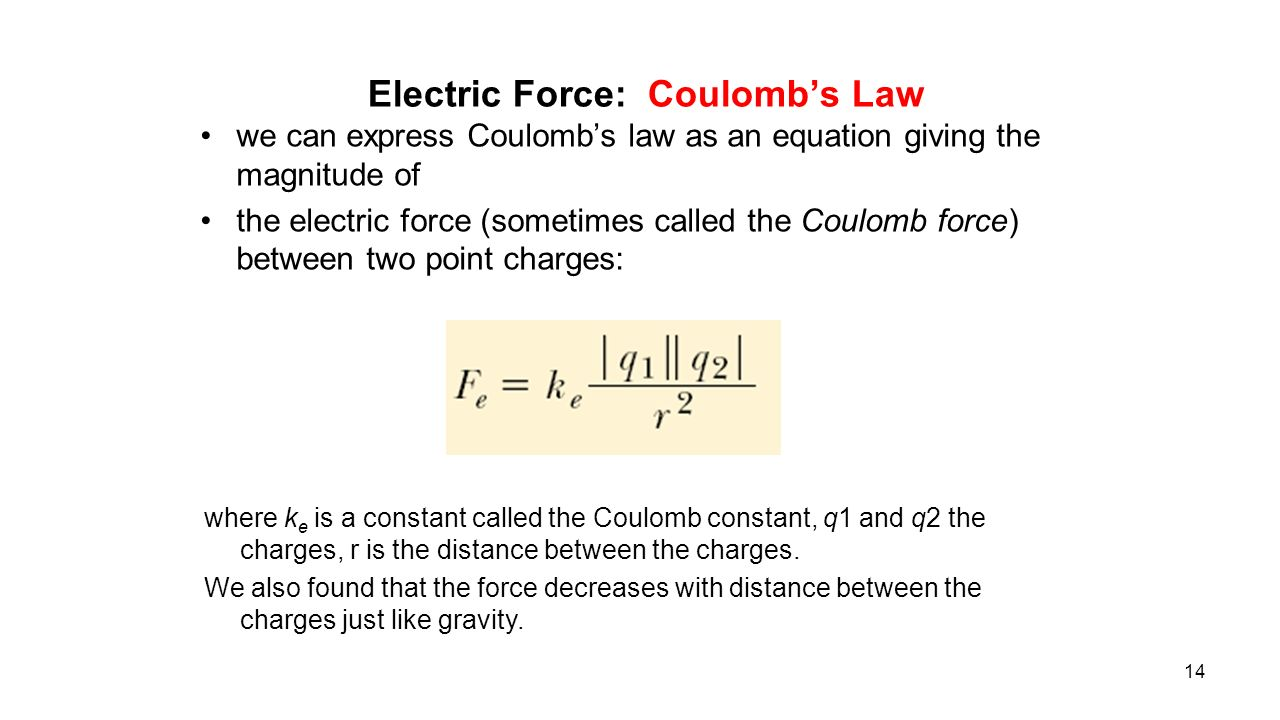 an introduction to the analysis of electricity force coulombs law