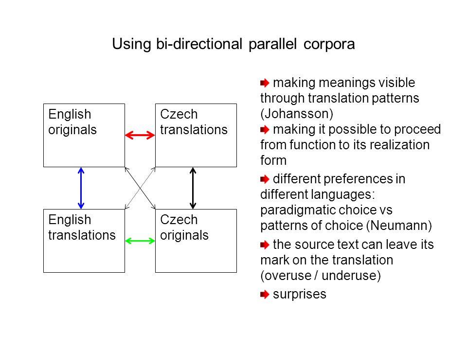 Using bi-directional parallel corpora