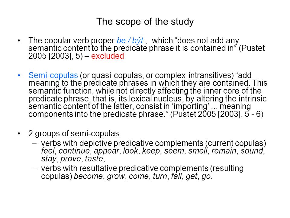 The scope of the study