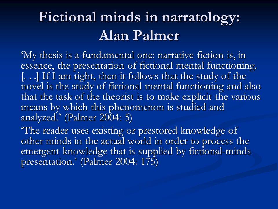 Fictional minds in narratology: Alan Palmer