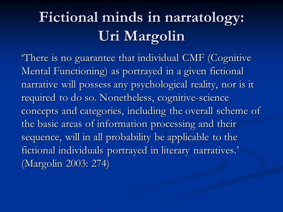 Fictional minds in narratology: Uri Margolin